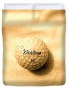 Vintage Golf Ball Duvet Cover by Anita Lewis