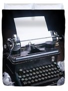 Vintage Manual Typewriter Duvet Cover by Edward Fielding