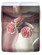 Vintage Pink Duvet Cover by Amy Weiss