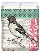 Vintage Songbird 2 Duvet Cover by Debbie DeWitt