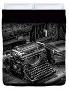 Vintage Typewriter Duvet Cover by Adrian Evans