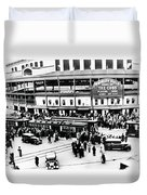 Vintage Wrigley Field Duvet Cover by Bill Cannon