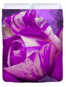 Violet and White Rose Duvet Cover by Bruce Nutting