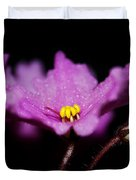 Violet Prayers Duvet Cover by Lisa Knechtel