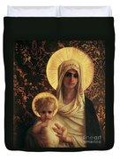Virgin And Child Duvet Cover by Antoine Auguste Ernest Herbert