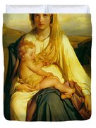 Virgin And Child Duvet Cover by Paul  Delaroche