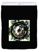 Visions Echo In The Crystal Ball Duvet Cover by Elizabeth McTaggart