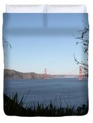 Vista To The San Francisco Golden Gate Bridge - 5d20983 Duvet Cover by Wingsdomain Art and Photography