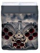 Vostok Rocket Engine Duvet Cover by Stelios Kleanthous