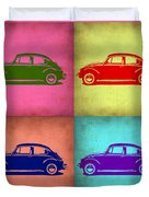 Vw Beetle Pop Art 1 Duvet Cover by Naxart Studio