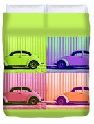 Vw Pop Spring Duvet Cover by Laura Fasulo