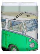 Vw Surf Bus Duvet Cover by Cheryl Young