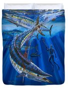Wahoo Spear Duvet Cover by Carey Chen