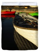 Waiting At The Dock Duvet Cover by Karol  Livote