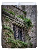 Waiting In Line For The Dome Duvet Cover by Joan Carroll