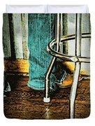 Waiting Waitress Duvet Cover by Chris Berry