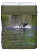 Walk On Water - The Anhinga Duvet Cover by Christine Till