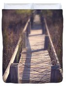 Walkway Through The Reeds Appalachian trail Duvet Cover by Edward Fielding
