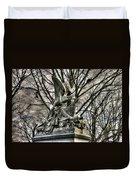 War Eagles - 88th Pa Volunteer Infantry Cameron Light Guard-d1 Oak Hill Autumn Gettysburg Duvet Cover by Michael Mazaika