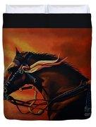 War Horse Joey  Duvet Cover by Paul Meijering