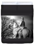 War Horses - 8th Pennsylvania Cavalry Regiment Pleasonton Avenue Sunset Autumn Gettysburg Duvet Cover by Michael Mazaika