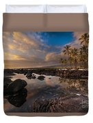Warm Reflected Place Of Refuge Skies Duvet Cover by Mike Reid