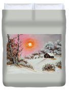 Warm Winter Day After Bob Ross Duvet Cover by Barbara Griffin