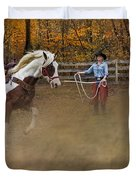 Warming Up Duvet Cover by Susan Candelario