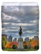 Washington in the Public Garden Duvet Cover by Joann Vitali