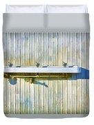 Water Falls Like Money Duvet Cover by Scott Campbell