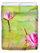 Water Lilies Inspired By Monet Duvet Cover by Sabrina L Ryan