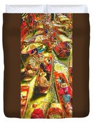 Water Market Duvet Cover by Mo T