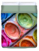 Watercolor Ovals One Duvet Cover by Heidi Smith
