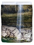 Waterfall At Hamilton Pool Duvet Cover by David Morefield