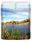 Watson Lake Arizona Duvet Cover by Kurt Van Wagner