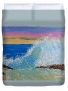 Wave At Sunrise Duvet Cover by Pamela  Meredith