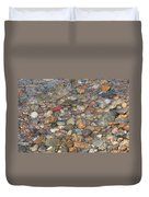 Wave Over Beautiful Rocks Duvet Cover by Carol Groenen