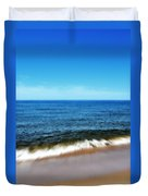 Waves In Motion Duvet Cover by Michelle Calkins
