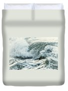 Waves In Stormy Ocean Duvet Cover by Elena Elisseeva