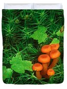 Wax Cap Fungi Duvet Cover by Jeff Lepore