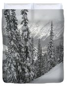 Way Up On The Mountain Duvet Cover by Kym Backland