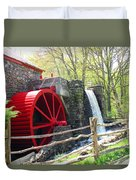 Wayside Inn Grist Mill Duvet Cover by Barbara McDevitt