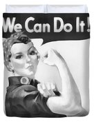 We Can Do It Duvet Cover by Dan Sproul