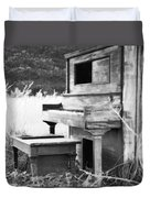 Weathered Piano Duvet Cover by Mike McGlothlen