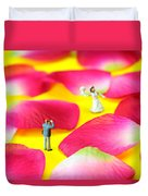 Wedding Photography Little People Big Worlds Duvet Cover by Paul Ge