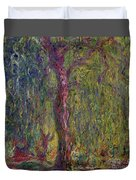 Weeping Willow Duvet Cover by Claude Monet