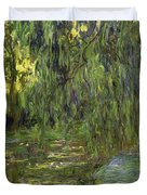 Weeping Willows The Waterlily Pond at Giverny Duvet Cover by Claude Monet