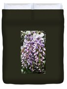 Weeping Wisteria - Spring Snow - Ice - Lavender - Flora Duvet Cover by Andee Design