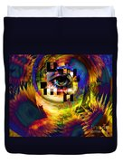 Welcome To 3rd Annex Duvet Cover by Elizabeth McTaggart
