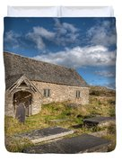 Welsh Church Duvet Cover by Adrian Evans